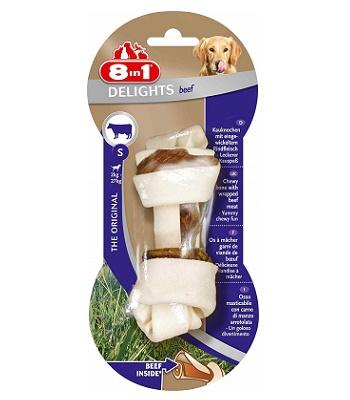 8in1 Delight Beef S косточка с говядиной для мелких и средних собак