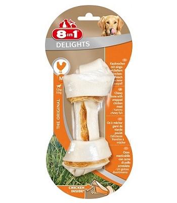 8in1 Delight M косточка с курицей для средних и крупных собак