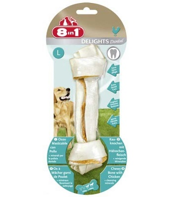8in1 Dental Delight L косточка с минералами для крупных собак