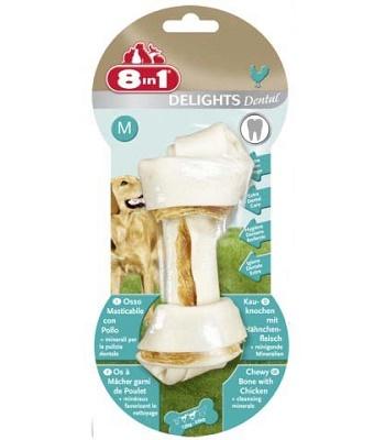 8in1 Dental Delight M косточка с минералами для средних и крупных собак
