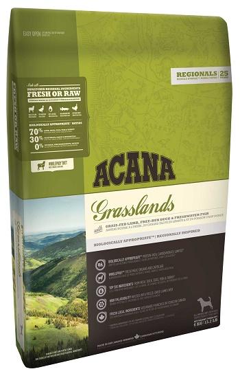 Acana Grasslands сухой корм для собак беззерновой с ягненком