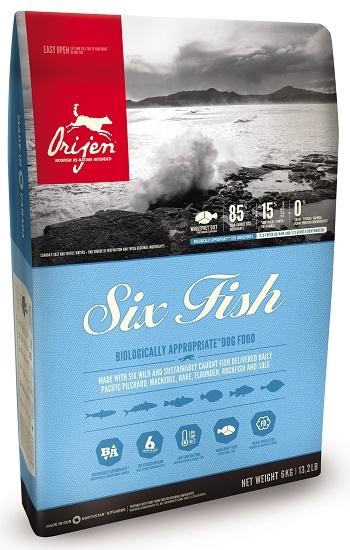 Orijen Six Fish сухой корм для собак 6 видов рыб SALE