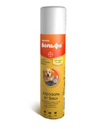 Bayer Bolfo аэрозоль от блох для кошек и собак 250 мл