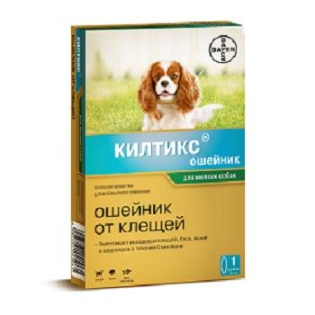 Bayer Kiltix ошейник от блох и клещей для мелких собак 35 см