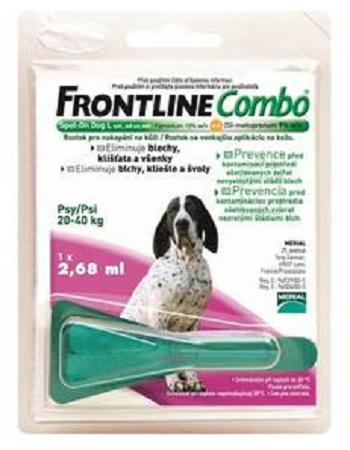 Frontline Combo L (20-40 кг) капли от блох и клещей для собак