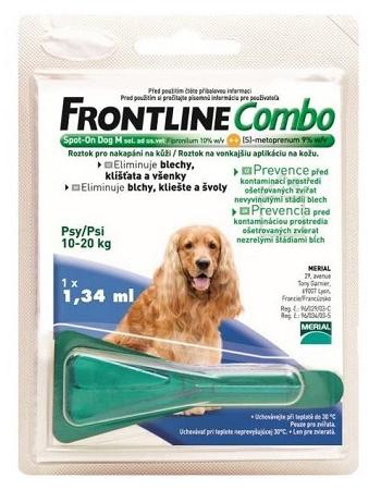 Frontline Combo M (10-20 кг) капли от блох и клещей для собак