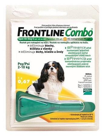Frontline Combo S (2-10 кг) капли от блох и клещей для собак