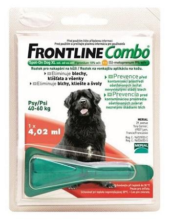 Frontline Combo XL (40-60 кг) капли от блох и клещей для собак
