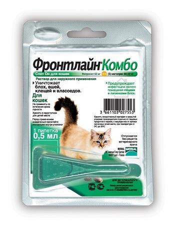 Frontline Combo капли от блох и клещей для кошек