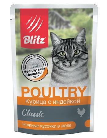 Blitz Classic Poultry влажный корм для кошек Курица с индейкой