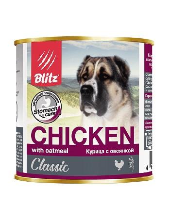 Blitz Classic влажный корм для собак Курица с овсянкой