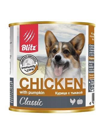 Blitz Classic влажный корм для собак Курица с тыквой