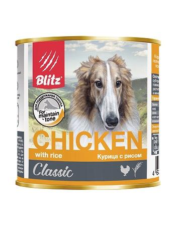 Blitz Classic влажный корм для собак Курица с рисом