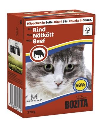 Bozita Feline консервы для кошек с говядиной в соусе