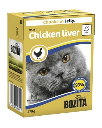 Bozita Feline консервы для кошек с куриной печенью в желе