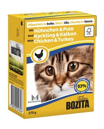 Bozita Feline консервы для кошек с курицей и индейкой в соусе