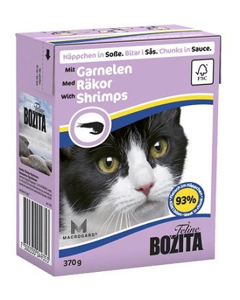 Bozita Feline консервы для кошек с креветками в соусе
