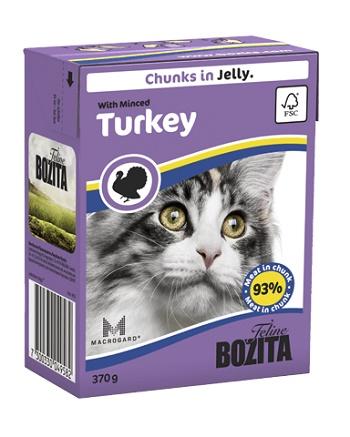 Bozita Feline консервы для кошек с рубленной индейкой в желе