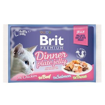 Brit Premium Dinner Plate Jelly набор паучей для кошек в желе