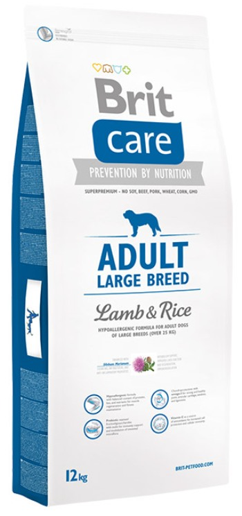 brit care adult large breed lamb rice dog