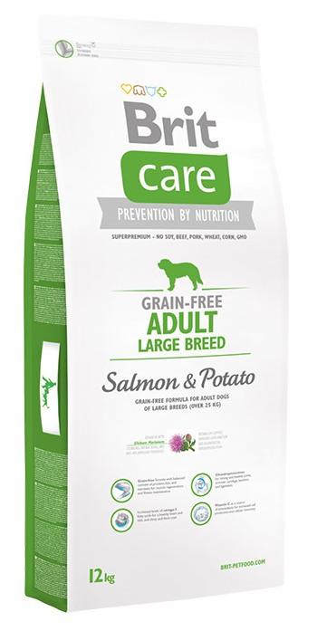 Brit Care Adult Large Breed сухой корм для взрослых собак крупных пород с лососем и картофелем