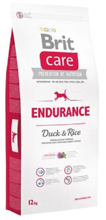 Brit Care Endurance сухой корм для взрослых активных собак с уткой и рисом