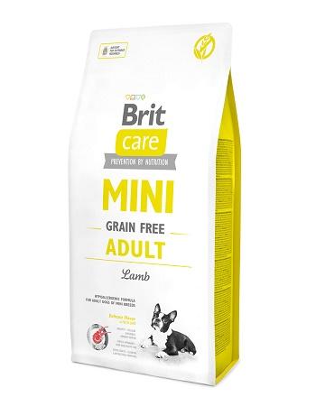 Brit Care Mini Adult сухой корм для взрослых собак мелких пород с ягненком