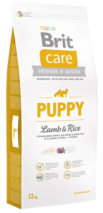 brit care puppy all breed lamb rice dog