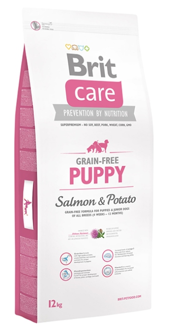Brit Care Puppy сухой корм для щенков всех пород с лососем и картофелем