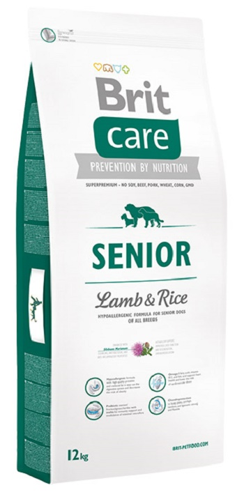Brit Care Senior сухой корм для пожилых собак всех пород с ягненком и рисом