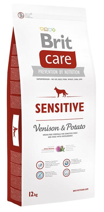 Brit Care Sensitive сухой корм для собак с чувствительным пищеварением с олениной и картофелем