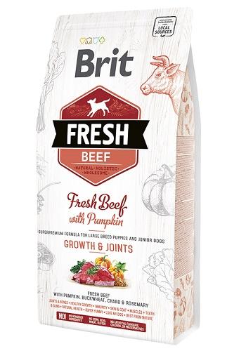 Brit Fresh Beef Growth&Joints сухой корм для щенков крупных пород с говядиной