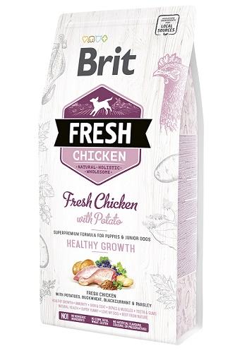 Brit Fresh Chicken Healthy Growth сухой корм для щенков всех пород с курицей