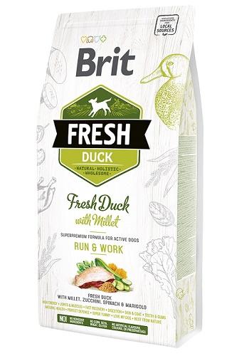 Brit Fresh Duck Run&Work сухой корм для собак с высокой активностью с уткой