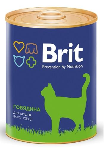 Brit Premium консервированный корм для кошек с говядиной