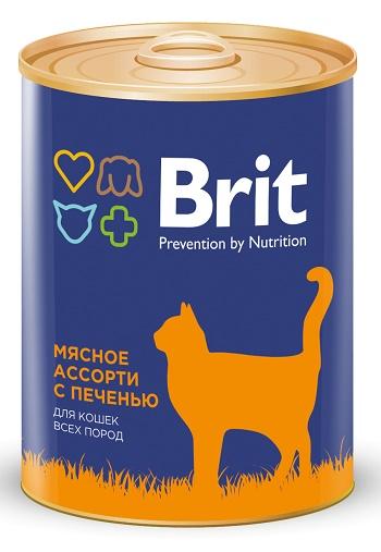 Brit Premium консервированный корм для кошек с печенью