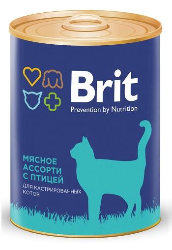 Brit Premium консервированный корм для кастрированных котов с птицей