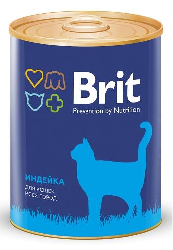 Brit Premium консервированный корм для кошек с индейкой