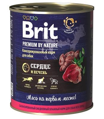 Brit Premium by Nature консервы для собак Сердце и печень