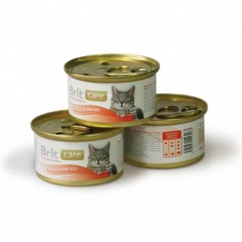 Brit Care консервы для кошек с куриной грудкой
