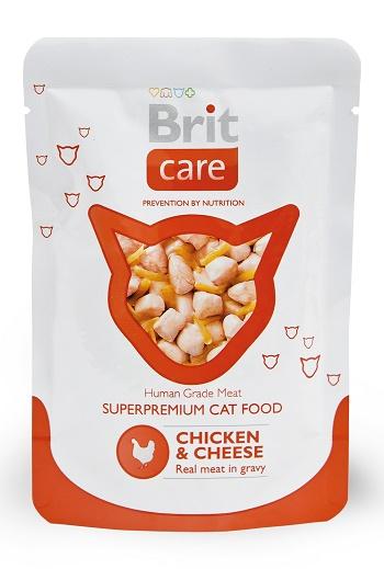 Brit Care пауч для кошек с курицей и сыром