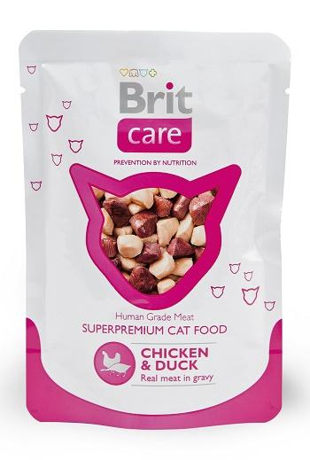 Brit Care пауч для кошек с курицей и уткой