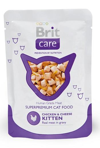 Brit Care пауч для котят с курицей и сыром