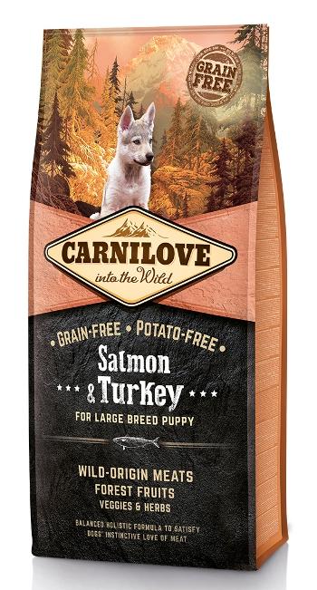Carnilove Salmon&Turkey сухой корм для щенков крупных пород беззерновой с лососем и индейкой