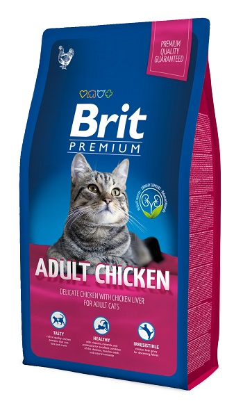 Brit Premium Adult Chicken сухой корм для взрослых кошек с курицей