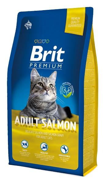 Brit Premium Adult Salmon сухой корм для взрослых кошек с лососем