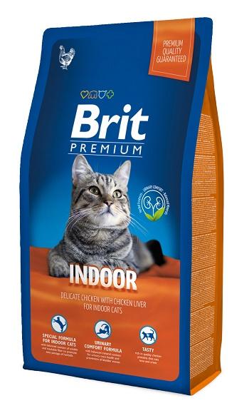 Brit Premium Indoor сухой корм для домашних кошек с курицей