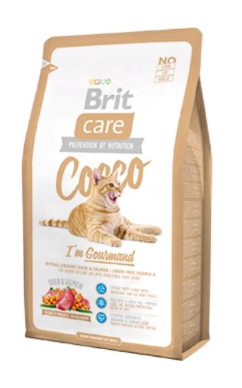 Brit Care Cat Cocco сухой беззерновой корм для кошек-гурманов с уткой и лососем
