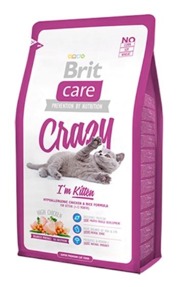Brit Care Cat Crazy сухой корм для котят беременных и кормящих кошек с курицей