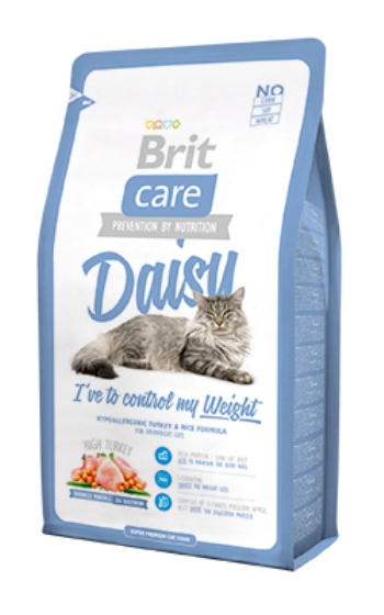 Brit Care Cat Daisy сухой корм для кошек с излишним весом с индейкой